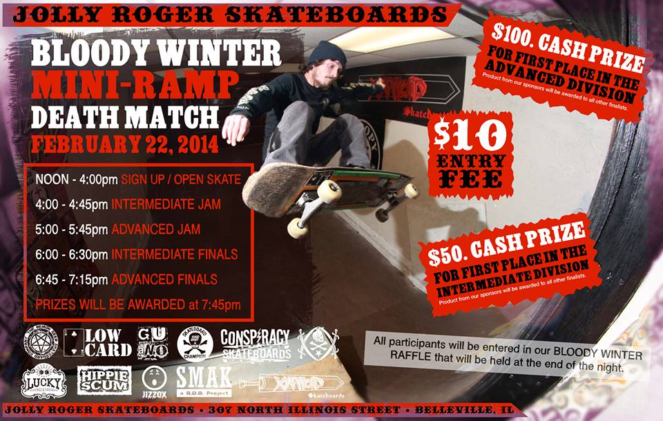 Jolly Roger - Bloody Winter - Ramp Jam- Conspiracy- Feb 2014